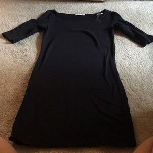 Fitted small black dress! Barley worn!